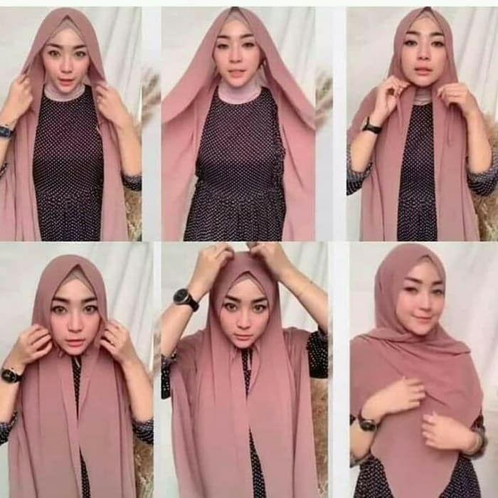 Tutorial Hijab Pashmina Diamond Simple dan Mudah