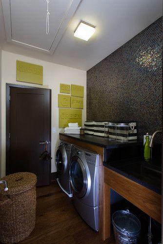 Hgtv Modern Laundry Room Black Wall Tile Modern Laundry Rooms Laundry Room Laundry Room Design