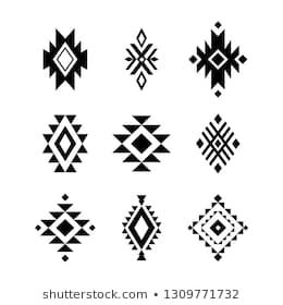 Similar Images, Stock Photos & Vectors of Navajo Print Aztec Pattern Tribal Design - 482420068 | Shutterstock