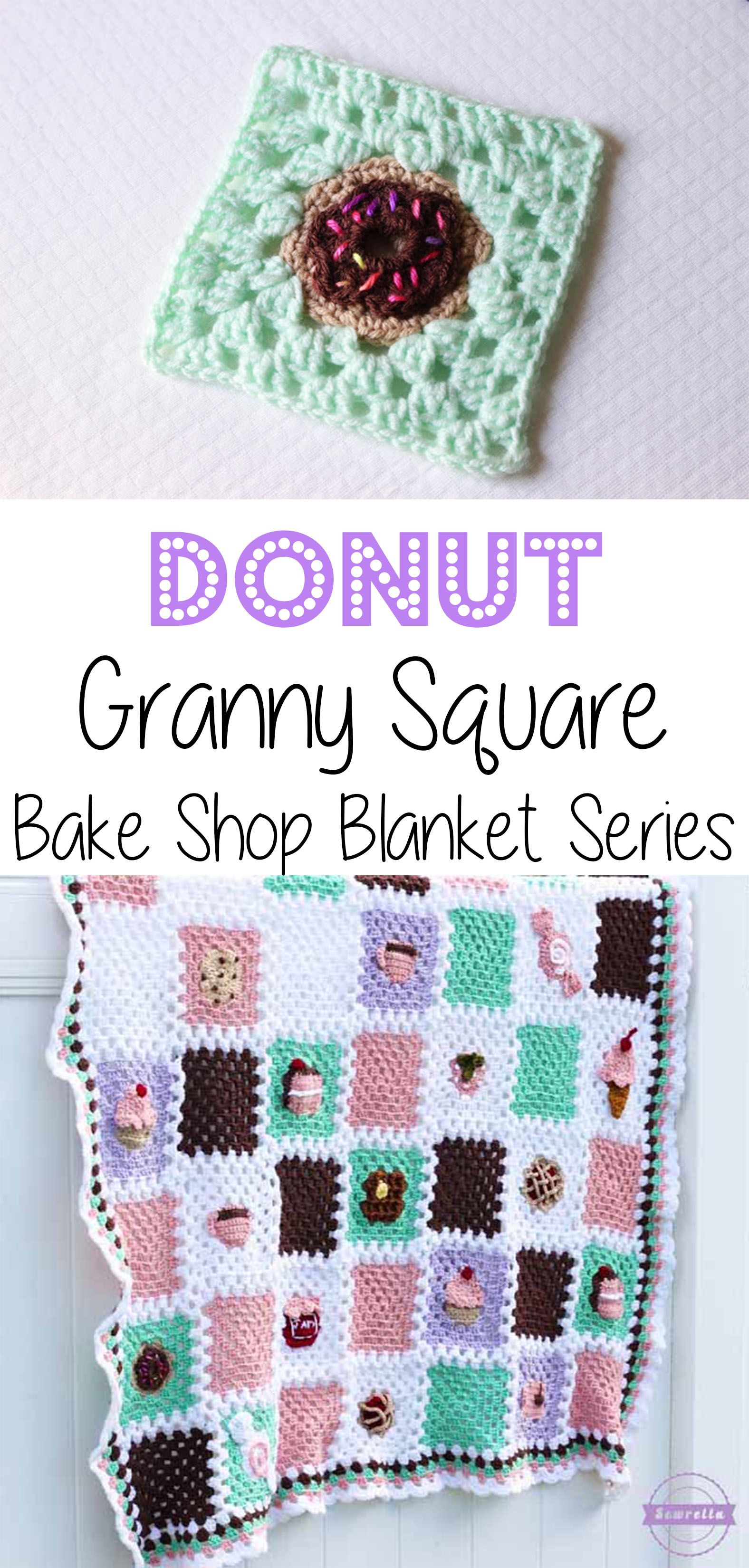 Crochet Donut Granny Square: Bake Shop Blanket Series | Free Pattern ...