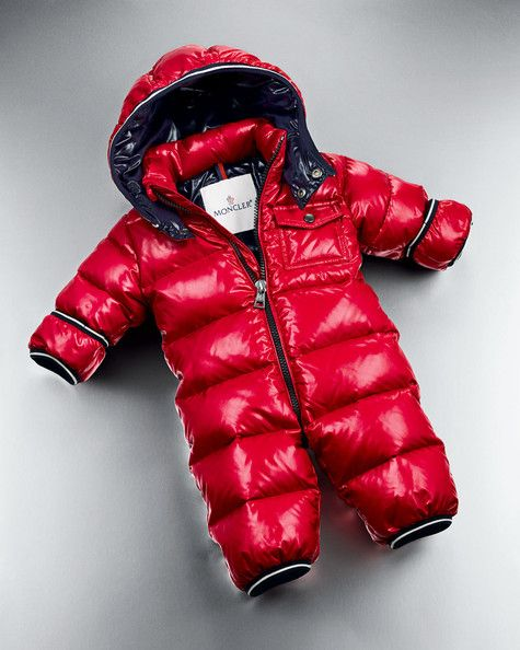 eaa8a5750 Moncler  Tom  Detachable Hood Baby Snowsuit