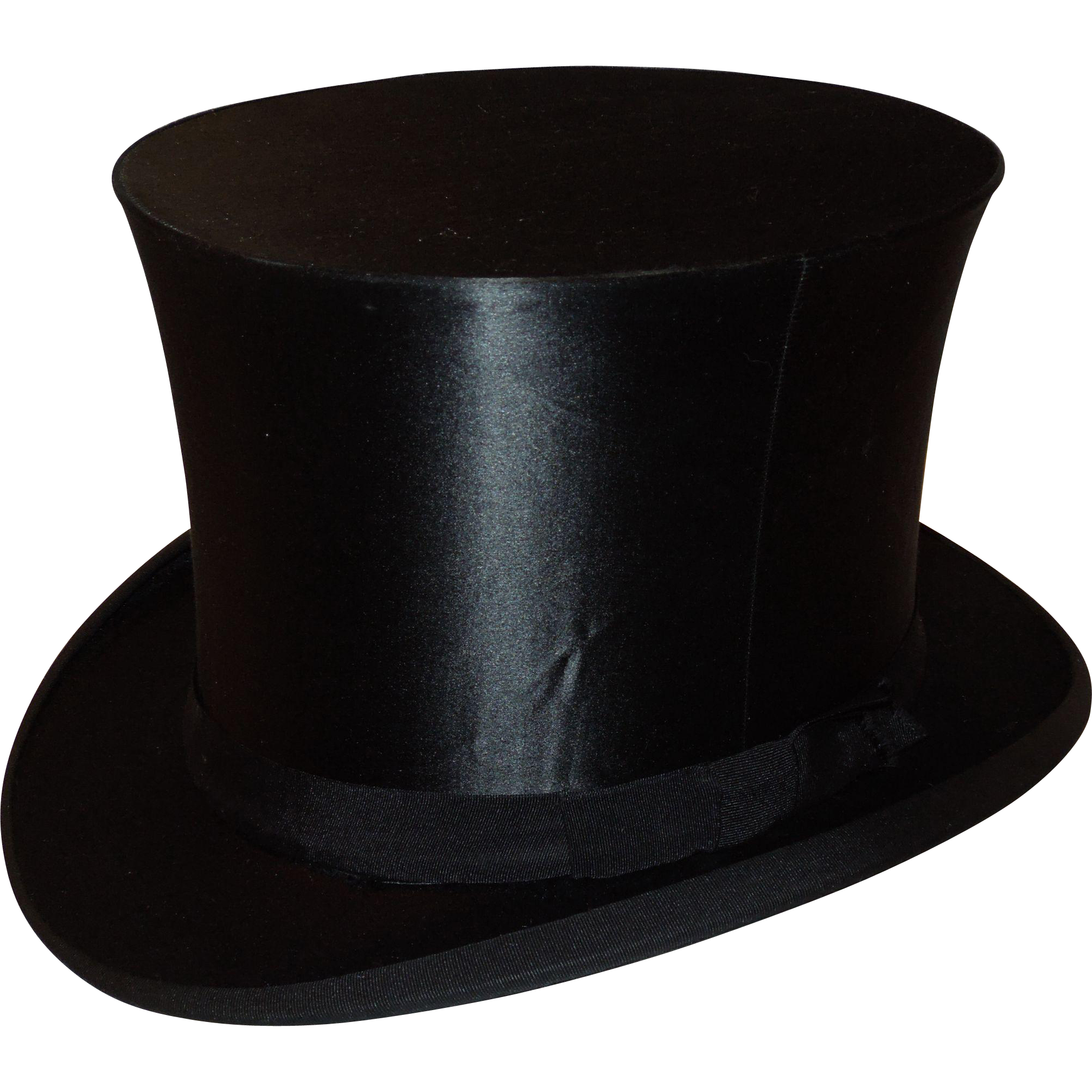 8e2b260eef1 Antique Silk Collapsible Top Hat www.rubylane.com  vintagebeginshere