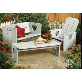 Wood Magazine - Woodworking Project Paper Plan to Build Bench, Chair, and Table