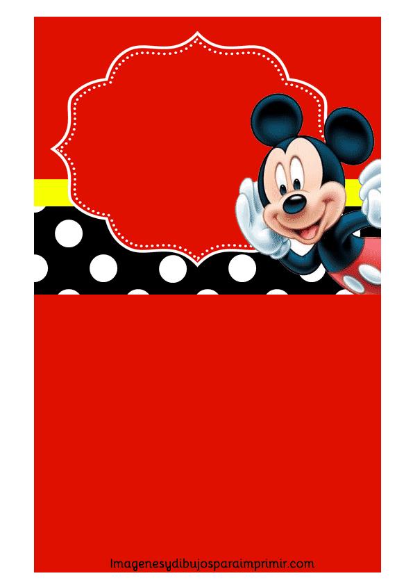 Invitaciones De Mickey Mouse Para Cumpleaños Imagenes Y