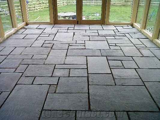Slate Stone Flooring Is A Great Addition For Any Outdoor Space Slate Flooring Holds Up Well To The Elements And Loo Slate Tile Floor Tile Floor Slate Flooring