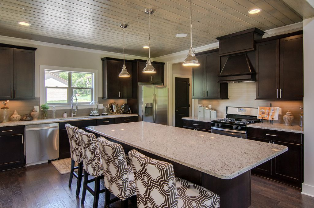 Signature Homes, Cool Ceiling Treatment In Kitchen At The Hamptons At  Watkins Creek.