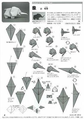 bruno origami origami elefante origami animais e seres rh pinterest nz origami elephant instructions easy origami elephant diagramme