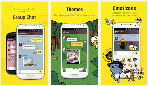 KakaoTalk Free Calls & Text android app for tablet. If you