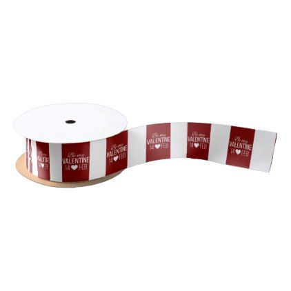 red and white be my valentine heart satin ribbon valentine heart
