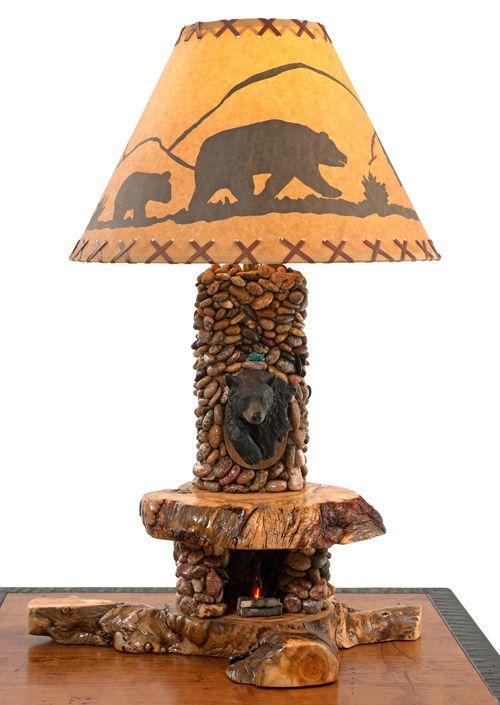 Rock Fireplace Lamp Woodland Creek Furniture Rock Fireplaces Lamp Rustic Outdoor Furniture