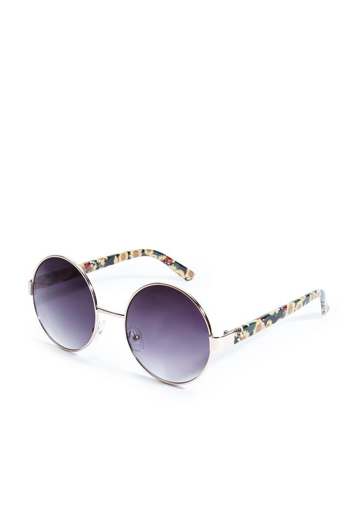 2284b7b1755 Round Sunflower Sunglasses