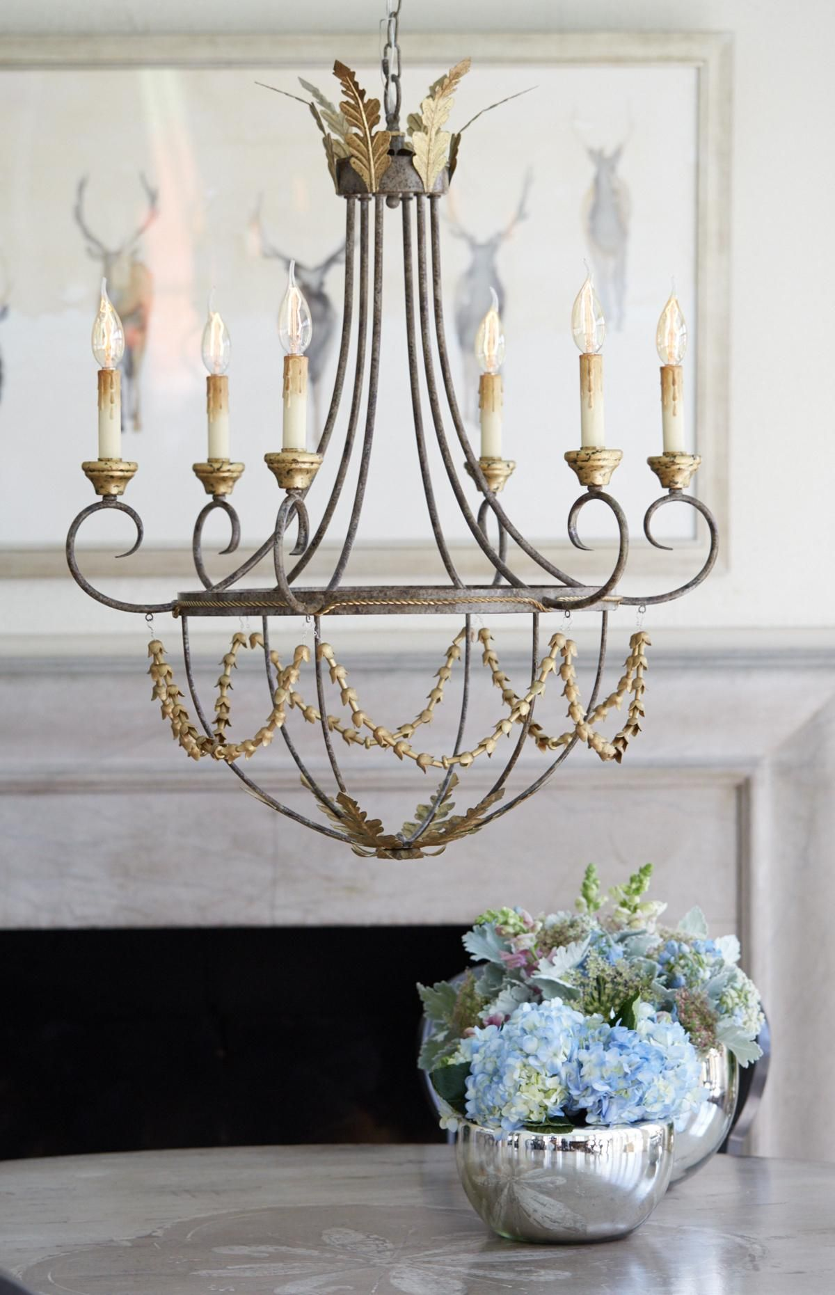 The Noble Chandelier Arhaus Chandelier Traditional