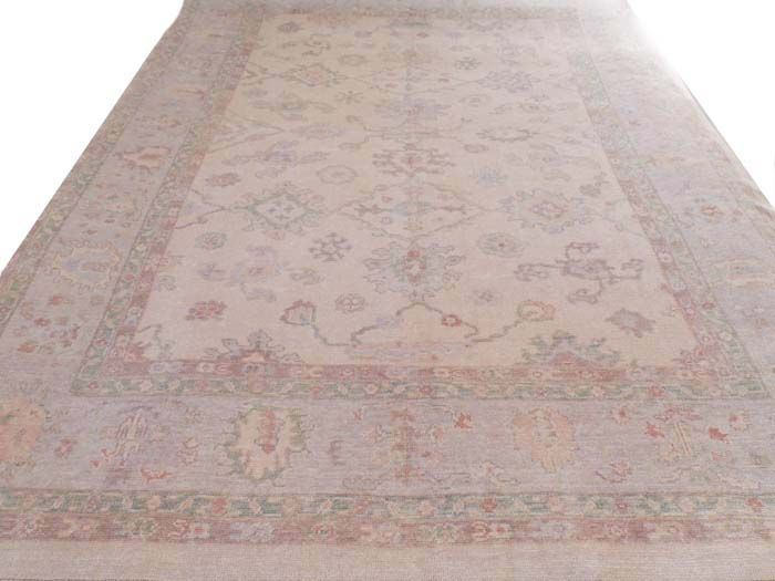 Antique Reproduction Turkish Oushak Fine Rug Vegetable Dyes Wool Pile Wool Foundation Rugs Antique Oushak Antique Rugs