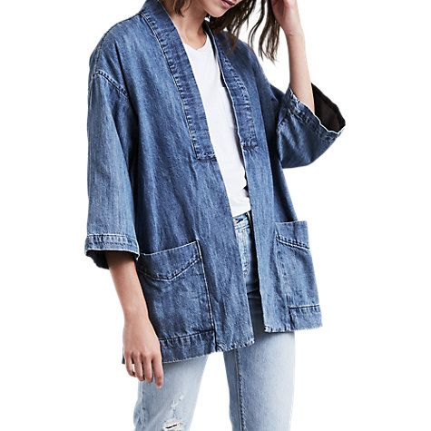 Buy Levi's Annice Kimono Denim Jacket, Blue Online at johnlewis.com