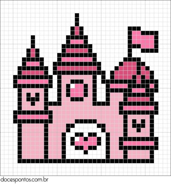Perler Bead Pattern Disney Characters Castle Hama Bead