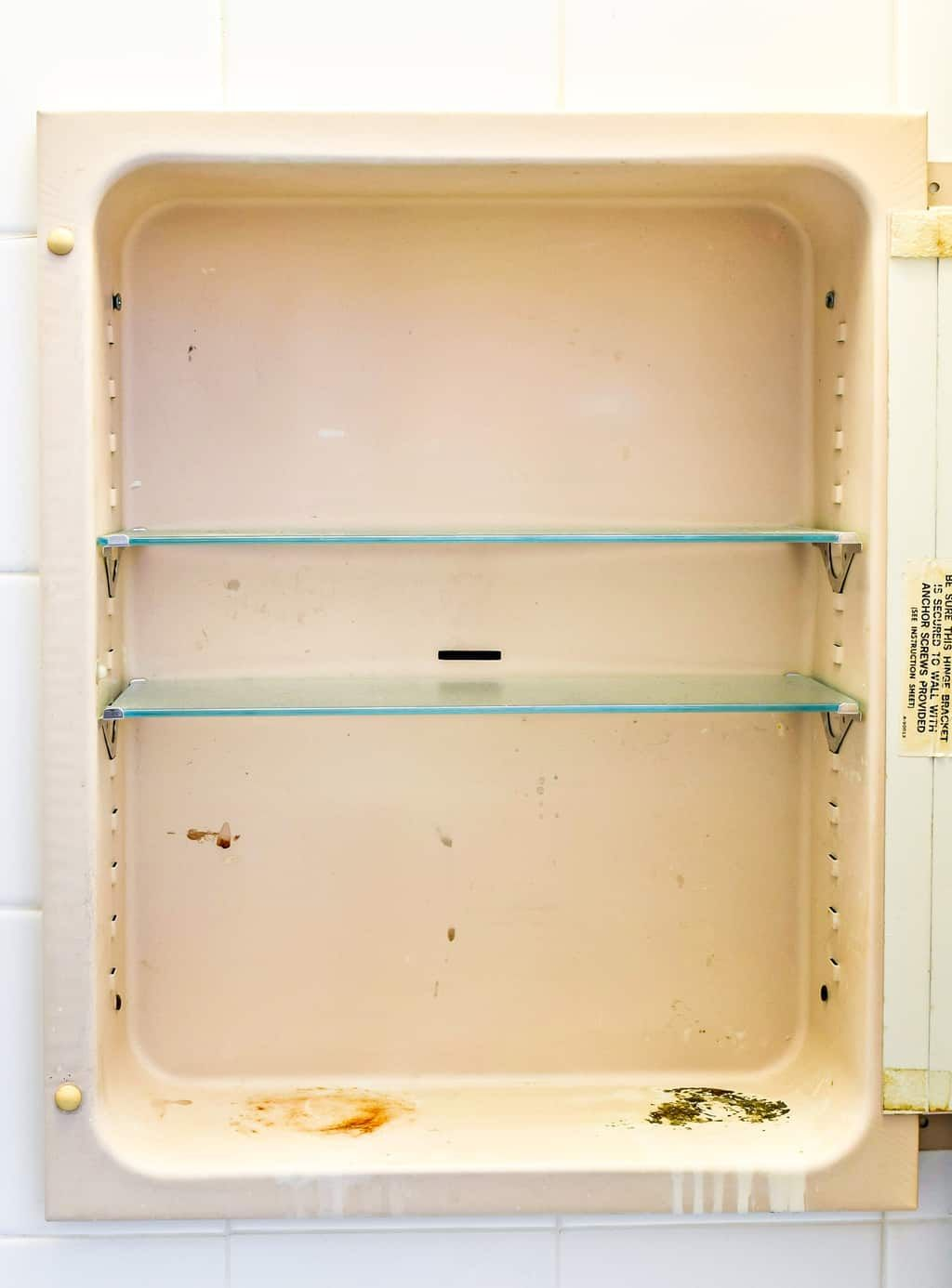 How To Paint A Rusty Medicine Cabinet Medicine Cabinet Makeover Vintage Medicine Cabinets Medicine Cabinet Mirror
