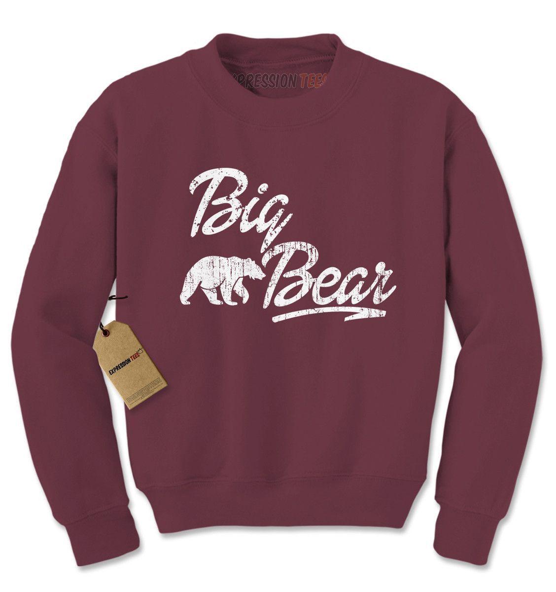 Big Bear Cub Family Adult Crewneck Sweatshirt