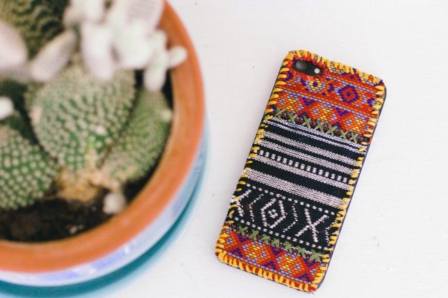 DIY this boho phone case for summer.