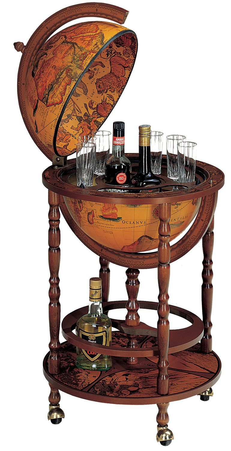 Super Old World Globe Bar...for the 7th Sea villain in both of us. | Our UC-37