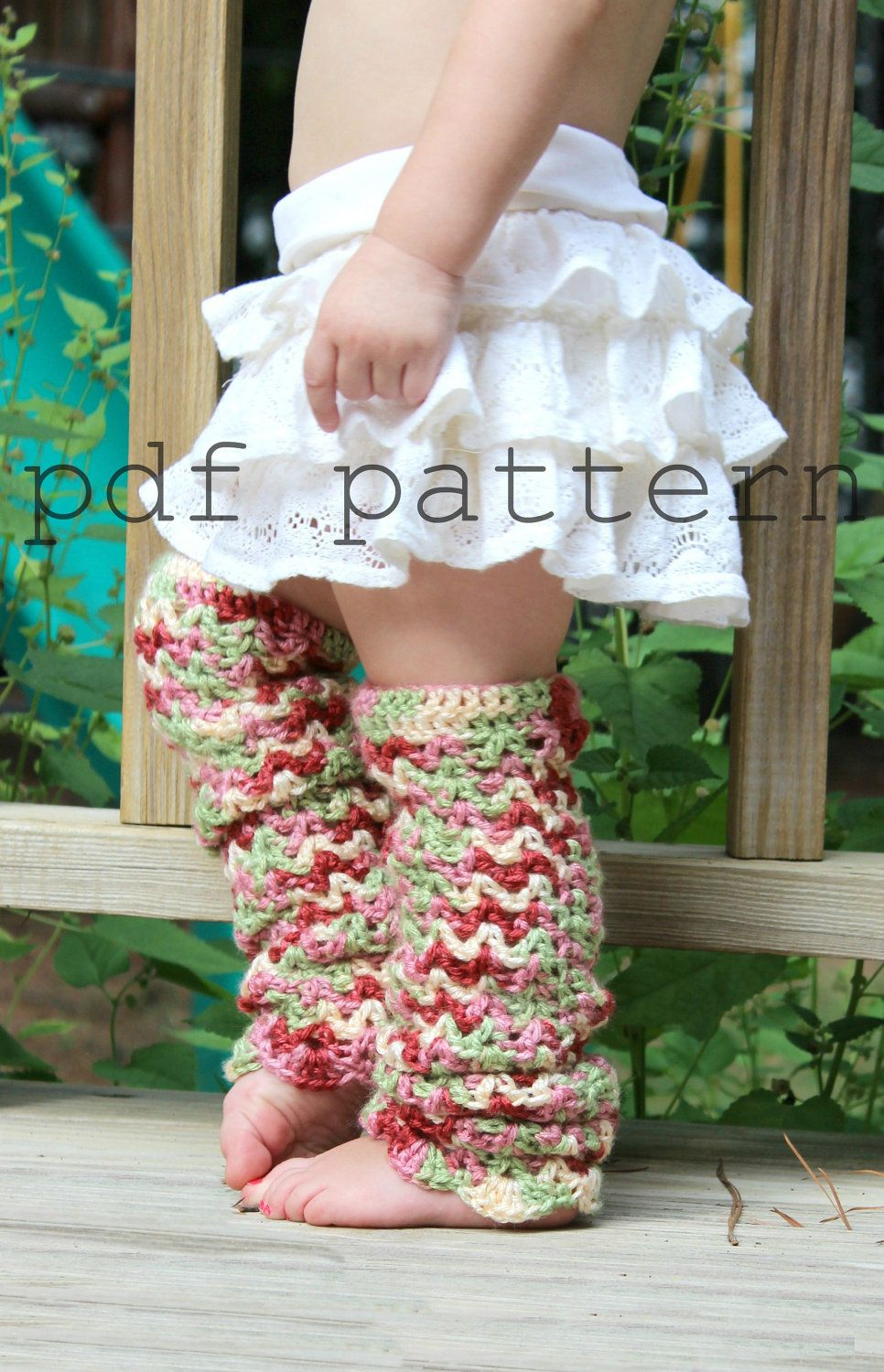 scallops and lace baby leg warmers crochet PDF pattern by Curtsay ...