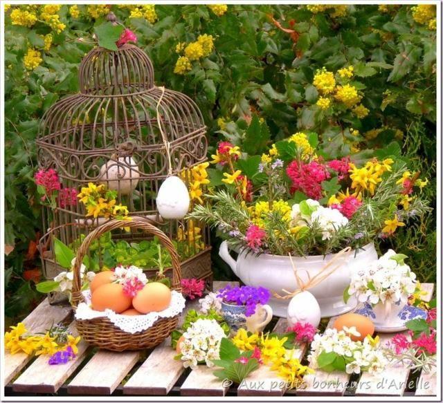 d co p ques 40 id es pour votre int rieur fleurs de printemps les oeufs et printemps. Black Bedroom Furniture Sets. Home Design Ideas