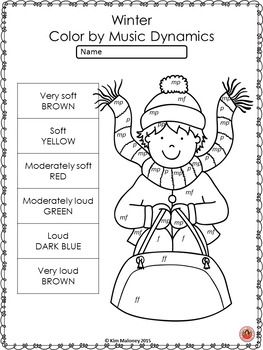 Winter Music Coloring Sheets 26 Winter Color By Music