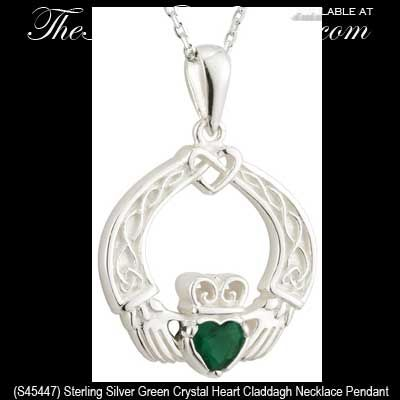 Sterling Silver Claddagh Wire Boucles d/'oreilles