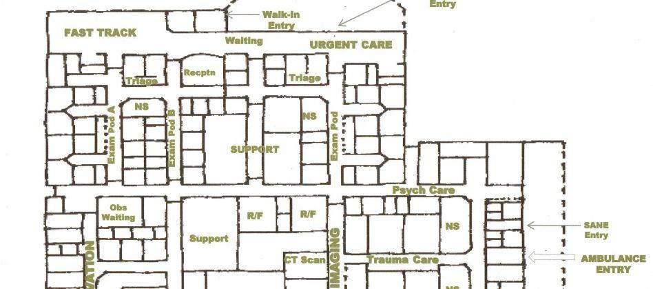 Hospital Emergency Department Floor Plan