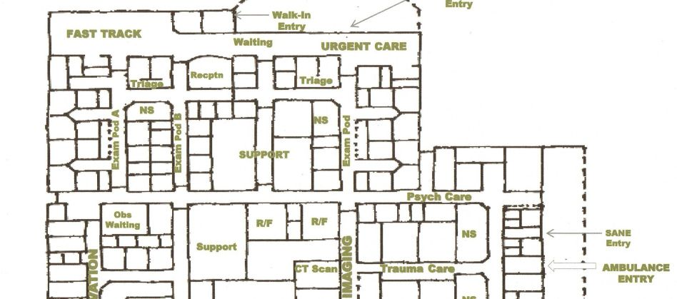 Hospital Room Plan Hospital Emergency Department Floor Plan