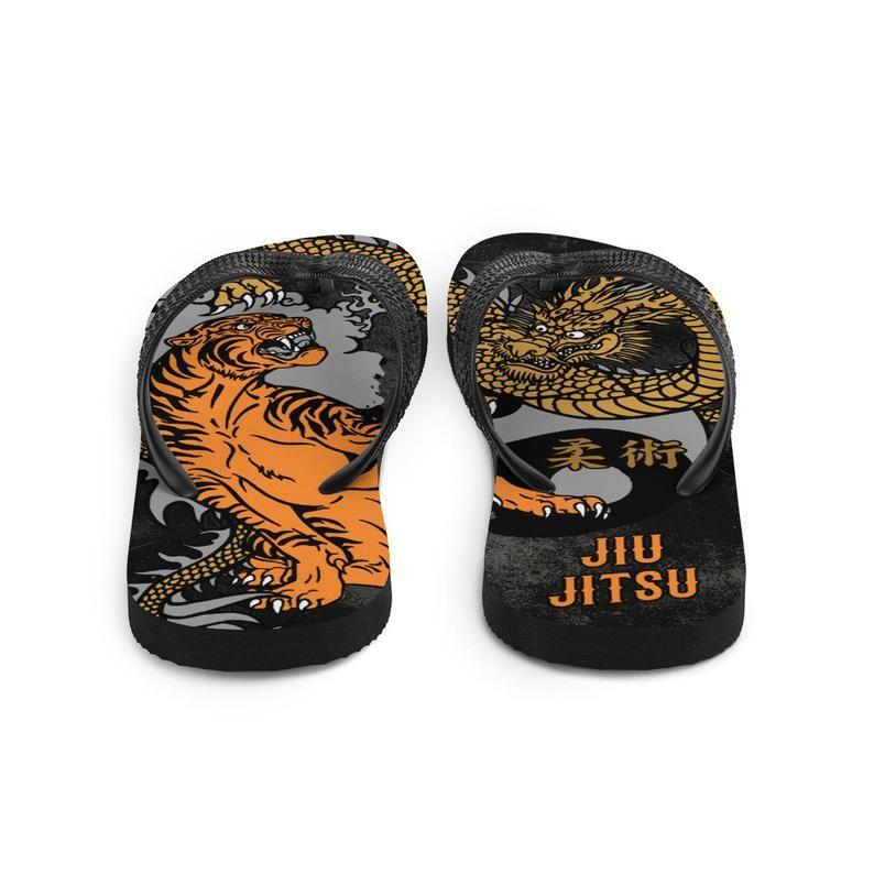 d5d3277dbadd5 Jiu Jitsu Tiger and Dragon Flip Flops, Ju Jutsu, Brazilian or ...