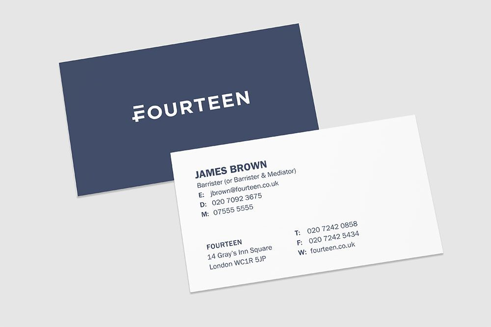 Brand New New Name Logo And Identity For Fourteen By Mash Logo Branding Identity Business Card Branding Business Card Design Creative