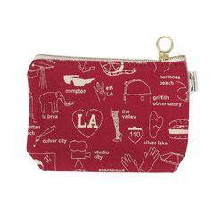 Los Angeles Cosmetics Bag - Red