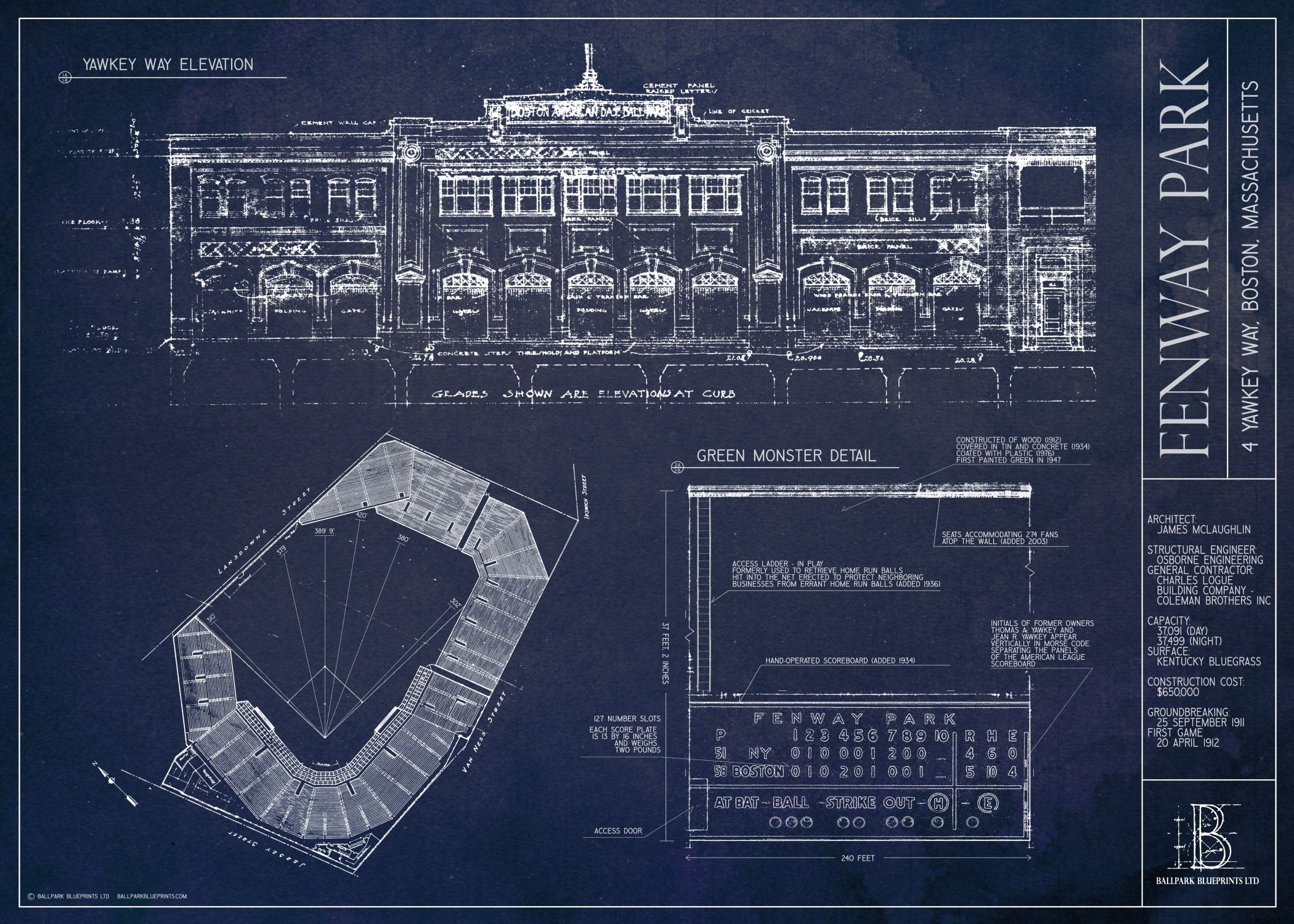 Great fathers day gift for the red sox fan available at ballpark blueprints creates and sells unique architecture prints featuring baseball and football stadiums and ballparks a great gift for the sports fan malvernweather Gallery