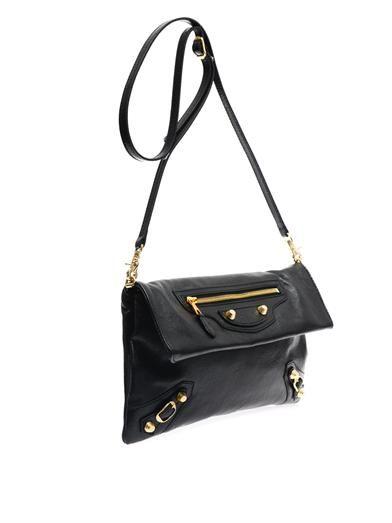 Balenciaga Giant 12 leather envelope clutch