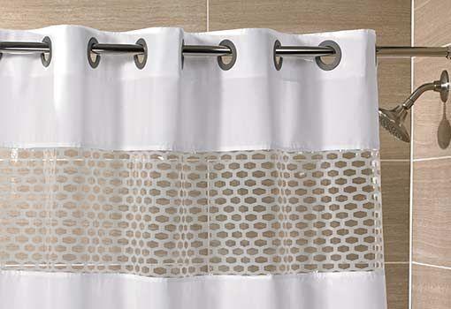 hookless shower curtain shop hampton