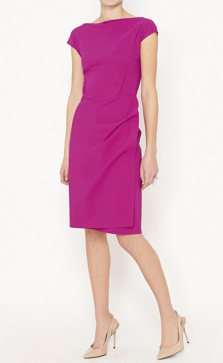 Le Petite Robe di Chiara Boni Magenta Dress | Office Outfits | Pinterest
