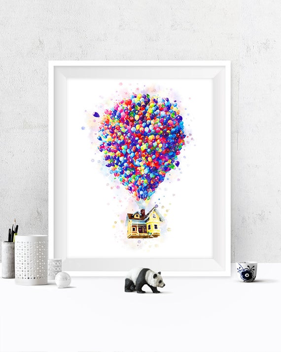Up Movie Baby Shower Google Search Up Movie House Art Prints Watercolor Disney