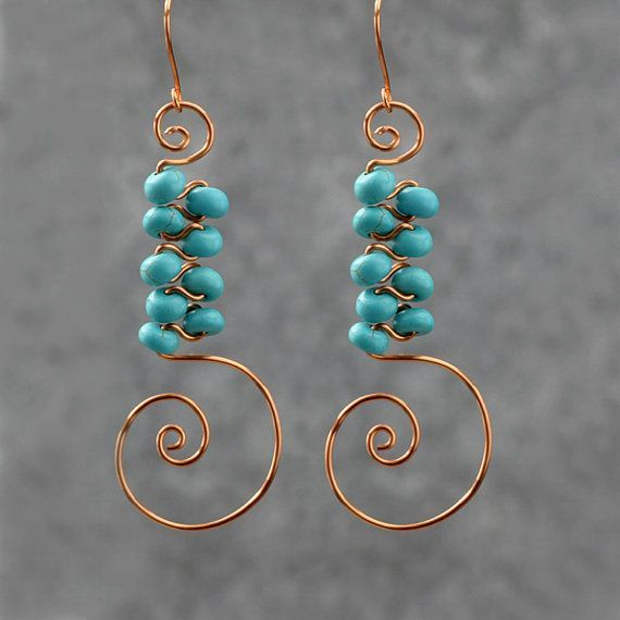 More Copper Wire Earring Designs Bing Images