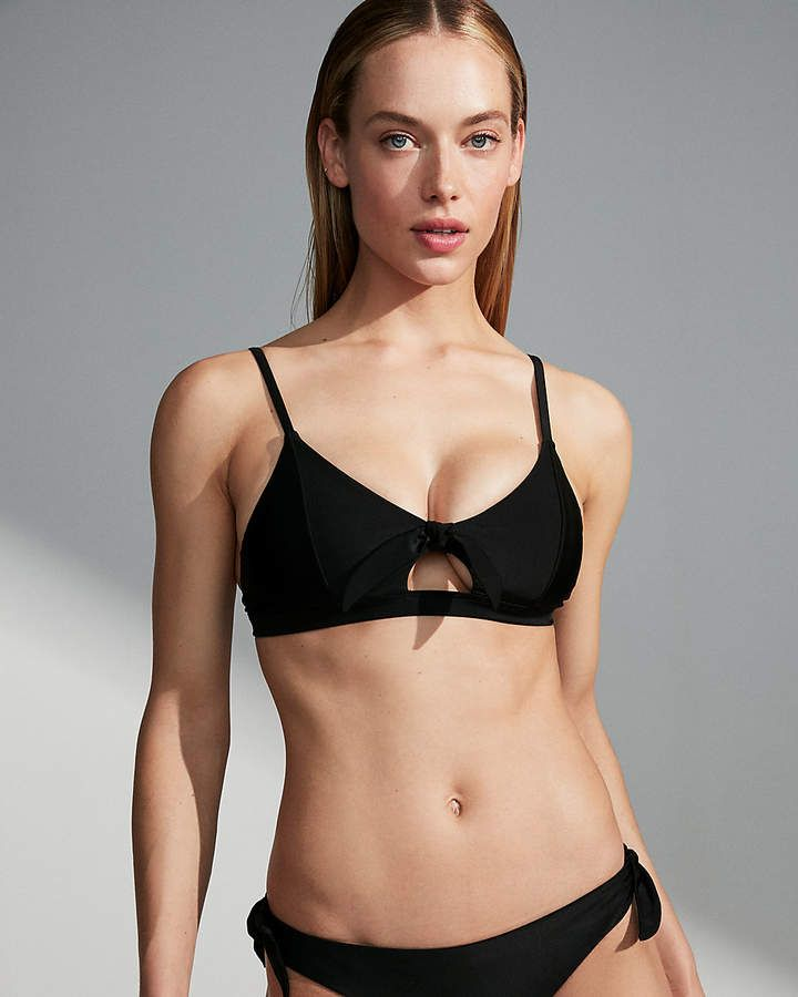 1a140cee9884f Tie Front Banded Triangle Bikini Top #stretch#comfy#cut | Swim Suit ...