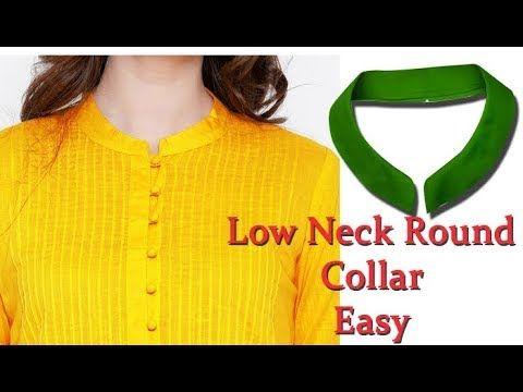 Kurti collar neck Easy Round Collar Cutting   Stitching full tutorial well  explained Hindi Tutorial - YouTube ee5e2669c