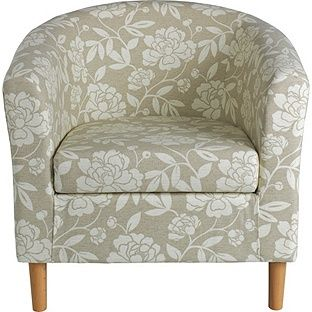 buy home floral fabric tub chair natural at argos co uk your