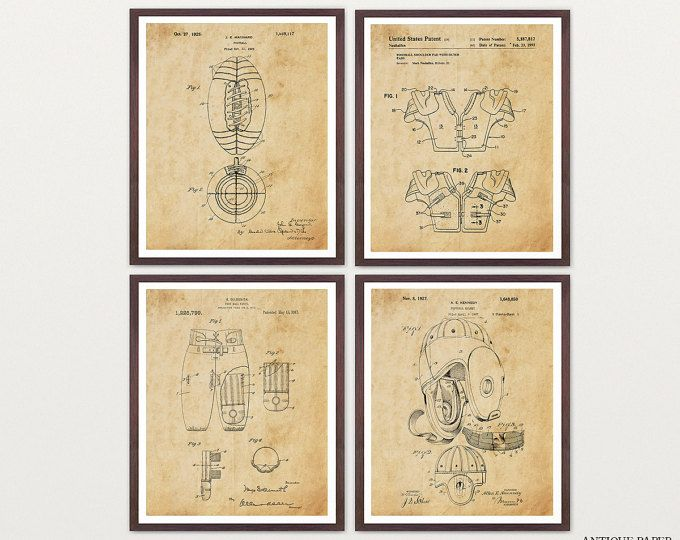 Vintage football patent print football blueprint wall art gift vintage football patent print football blueprint wall art malvernweather Choice Image