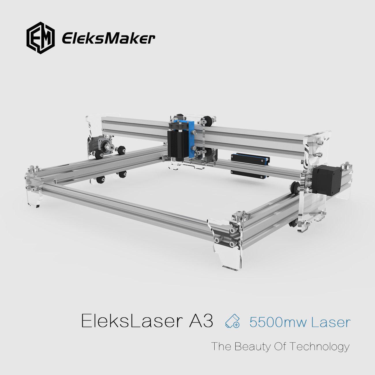 Eleksmaker Elekslaser A3 Pro 5500mw Laser Engraving Machine Cnc Laser Printer Sale Banggood Mobile Laser Engraving Machine Laser Printer Laser Engraving