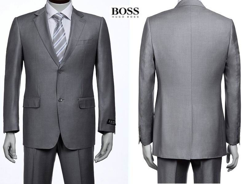 Hugo Boss Two Button Suit Light Grey 48