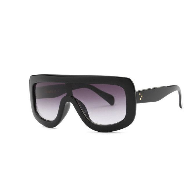 Rivet Retro Black Ladies Sunglasses Women Brand Designer Sexy Sun Glasses Vintage Luxury Sunglasses