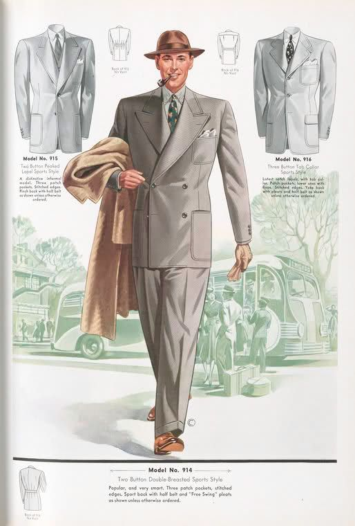 Pin On 1930 S Men S Clothing Resource By Dollface Dapper Vintage