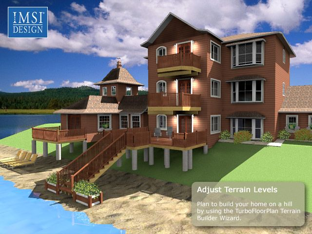 3d model design rendering done in turbofloorplan home for Home design rendering software