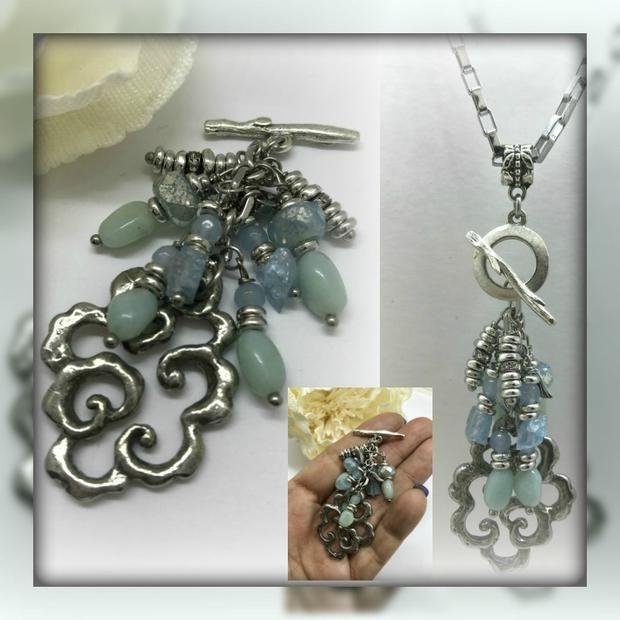 Amazonite interchangeable beaded pendant necklace 1479d pendants amazonite interchangeable beaded pendant necklace 1479d aloadofball Choice Image
