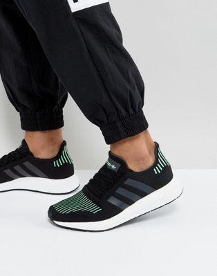 adidas originaux stan smith haut formateurs blanc / vert hommes haut