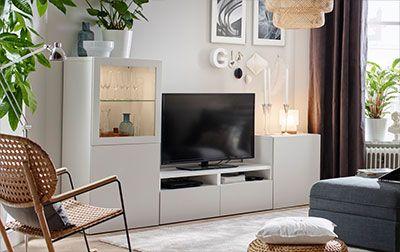Combinaci n best en blanco en un sal n blanco - Muebles de salon modernos ikea ...